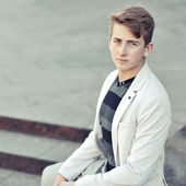 Young stylish man portrait - copyspace — Stock Photo