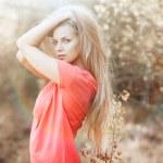 Sexy woman posing outdoors — Stock Photo #34739985