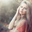 Beautiful girl face portrait close up — Lizenzfreies Foto