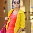 Stylish young woman wearing sunglasses  — Stock Photo