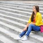 Stylish teenager girl portrait — Stock Photo