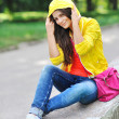 Photo of beautiful young woman. Stylish clothes — Stock Photo