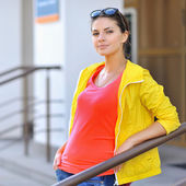Photo of beautiful young woman. Stylish clothes — Stock Photo