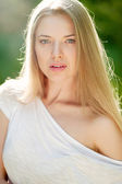 Beautiful woman face - closeup — Stock Photo