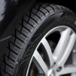 Car wheel on a car - closeup — Stock Photo