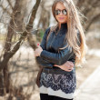 Stock Photo: Fashion blonde woman in sunglasses - outdoor portrait