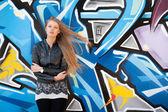 женщина с длинными прямыми волосами красоты — Стоковое фото