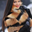 Young woman in winter - outdoor portrait  — Foto de Stock