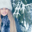 Stock Photo: Young womin winter