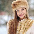 Stock Photo: Beautiful girl in winter