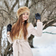 Young smiling girl in winter - outdoors  — Stock Photo