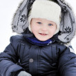 Stock Photo: Cute little boy portrait in winter