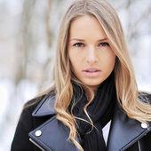 Beautiful girl face - close up — Stock Photo