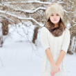 WInter woman portrait outdoor — Stock Photo