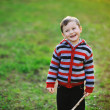 Smiling happy boy - outdoors portrait — Stock Photo #42027321