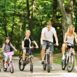 Family in the park on bicycles — Stock Photo #45860481