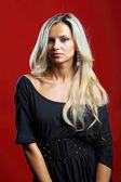 Young sensual model girl pose in studio — Stock Photo