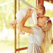 Happy family. Young mother and baby — Stock Photo