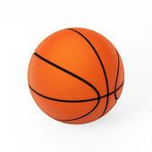 孤立在白色的 3d 模型上的篮球 — 图库照片