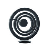 Black circle icon isolated on white 3d model — Stock Photo