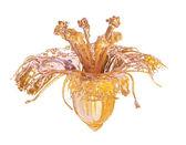 Glass orange flower isolated 3d model — Stock Photo