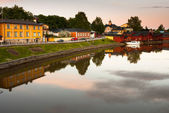 Finland. Porvoo. Quiet summer evening — Stock Photo