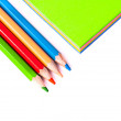 Stock Photo: Close up of pencils close colorful paper