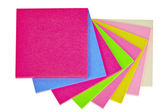 Colorful note papers on white — Stock Photo