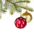 Christmas decoration on a white background — Foto de Stock