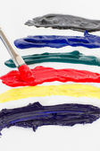 Colourful paints — Stock Photo
