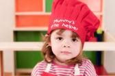 Child learning to cook — Stock Photo