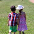 Stock Photo: Children holding hands