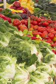Organic vegetables on market — Stock Photo