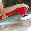 Polishing the car-closeup — Stock Photo