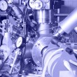 Electronic parts of ION Accelerator - Stock Photo