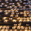 Stock Photo: Candles in a church