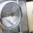 Close up of retro car headlight — Stock Photo
