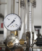Industrial pressure manometer — Stock Photo