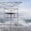 Abandoned beach life guard tower — Stock Photo #19718749