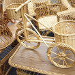 Stock Photo: Wicker bicycle and furniture