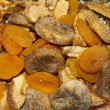 Dried organic fruit, background, selective focus — Stock Photo