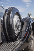 Vintage car spare tyre — Stock Photo