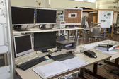Interior of nuclear laboratory command place — Stock Photo