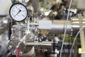 Interior of nuclear laboratory-ION accelerator-miniature effect — Stock Photo