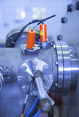 Details of ION accelerator industrial blue toned — Stock Photo