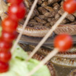 Tasty vegetable barbecue decoration, selective focus — Foto Stock