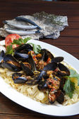 Mediterranean Mussel Pasta — Stock Photo