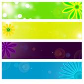 Floral banner — Stockfoto