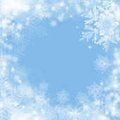Frame with snowflakers — Stock Photo