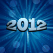 New Years card 2012 — Stock Photo